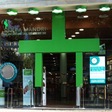 Entrada Farmacia Serra Mandri