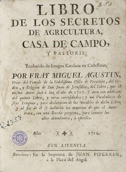 Foto 1 - libro de los secretos de agricultura casa de campo y pastoril