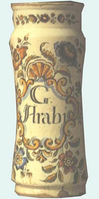 albarelo de goma arábiga