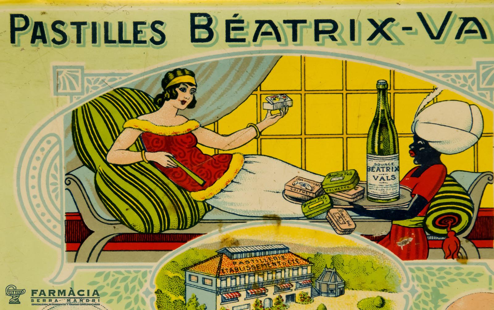 Detalle de una caja de Pastilles Beatrix Vals