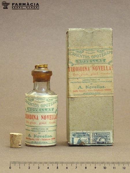 Foto del medicamento opoterápico tiroidina novellas