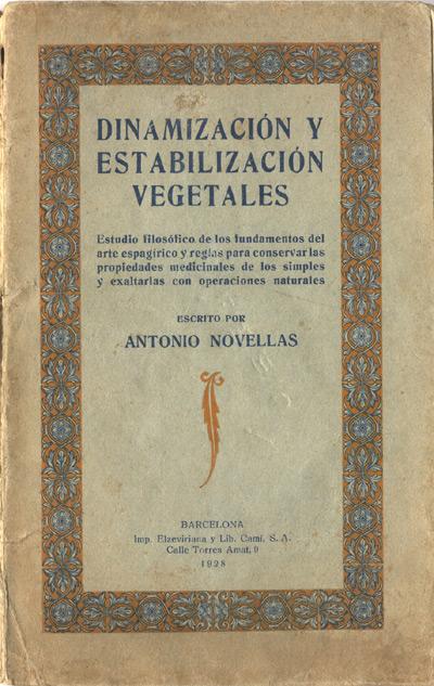 portada de la publicación dinamización y estabilización vegetales de antonio novellas