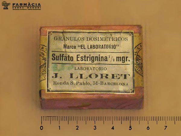 sulfato de estrignina laboratorios j. llobet
