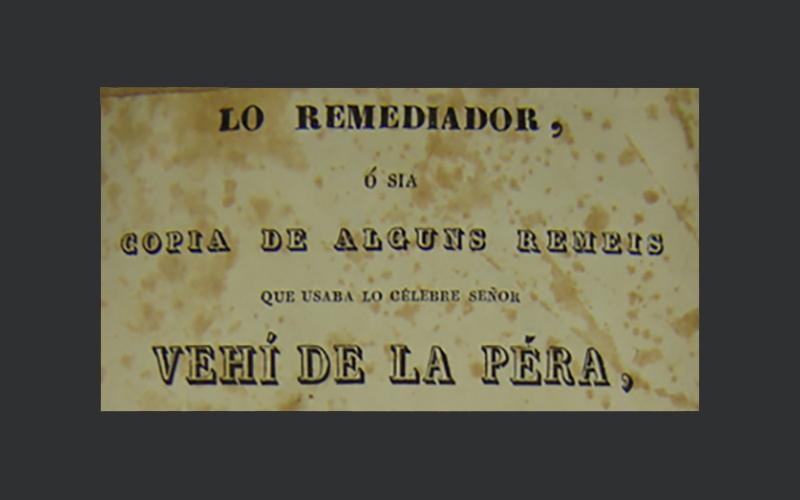 detall de la portada del liibre lo remediador de vehí de pera