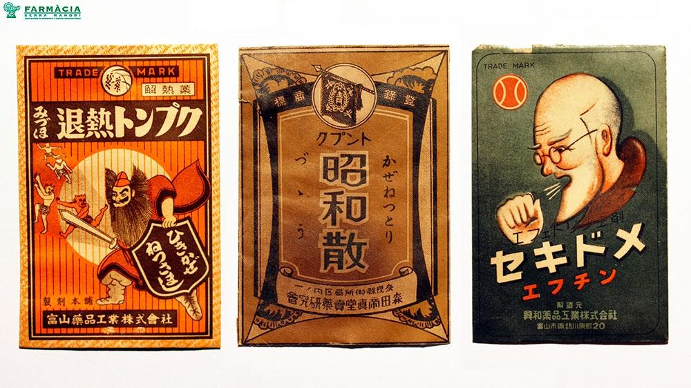 Sobres de Medicamentos Antiguos Japoneses (Okigusuri)