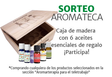 aromateca de madera con 6 aceites esenciales de regalo