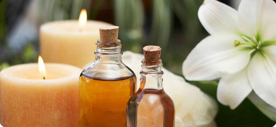 aceites, velas y flores